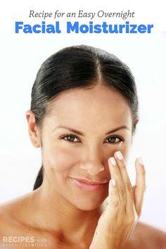 Quick and easy recipe for an Overnight Facial Moisturizer that really works! | RecipesWithEssentialOils.com