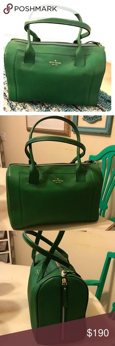 Medium Kate Spade Green Cobble Hill, Ellen purse Only used once. Perfect condition. Stored stuffed and protected inside purse bag. kate spade Bags Mini Bags
