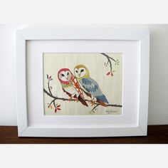 Two Owls On Aspen Print design inspiration on Fab.