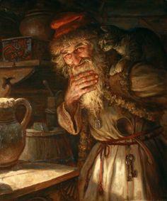 Домовой - художник Андрей Шишкин