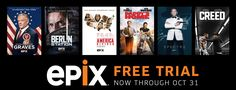 FREE Epix HD Trial - Stream Movies, Sports, & More for FREE! - http://www.swaggrabber.com/?p=252606