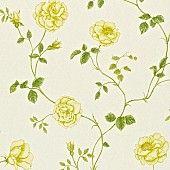 Behang: A Painters Garden, Rosalie parchment/yellow Sanderson