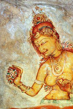 The Damsels of Sigiriya in Sri Lanka: http://srilanka.for91days.com/2012/03/22/the-damsels-of-sigiriya/