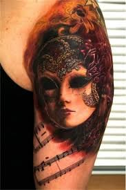 Andy Engel Tattoo - Studio für fotorealistische Tattoos in Markststeft Symbol Tattoos, Body Art Tattoos, Tatoos, Tatau Tattoo, Wicked Tattoos, 3d Tattoos, Tattoo Arm, Masquerade Mask Tattoo, Venetian Masquerade Masks