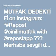 """MUTFAK_DEDEKTİFİ on Instagram: """"#Repost @cinilimutfak with @repostapp ・・・ Merhaba sevgili dostlar... Hem göze hem damağa hitab eden lezzetli bir pilav tarifim var bugün…"""""""