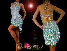Charismatico Dancewear Store - CHARISMATICO Halter style Latin dance dress with iridescent silver diamond sequins, $150.00 (http://www.charismatico-dancewear.com/charismatico-halter-style-latin-dance-dress-with-iridescent-silver-diamond-sequins/)