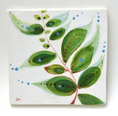 hand painted option - like but not a gotta have Painting Ceramic Tiles, Clay Tiles, Pottery Painting, Ceramic Art, Painted Tiles, Painted Pottery, Tile Projects, Diy Craft Projects, Stencil