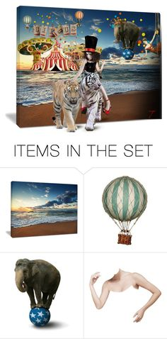 """""""Circus at Sea!"""" by craftygeminicreation ❤ liked on Polyvore featuring art, expression, circus and surreal"""