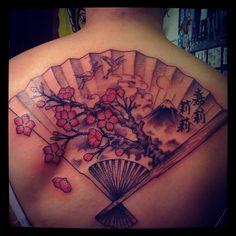 japanese fan tattoo - Google-søgning Fan Tattoo, Under My Skin, Cool Artwork, Japanese Art, Tattoo Inspiration, Tatting, Piercings, Tattoo Ideas, Dragon