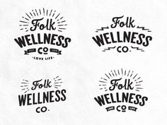 Folk Logo Concepts by Dustin Haver in Logo