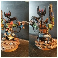 Add the skulls and tidied up some bits, should be done soon  #gamesworkshop #ork #Orks #Nobz #miniatures #mini #handpainted #warhammerpainting #waaagh #40k #warhammer40k #28mm #Deffskullz #Deathskullz #warhammer #wargaming #WIP