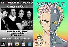 Hoy Viernes, 22:00:  NI 1 PELO DE TONTO en concierto presenta su disco 'Iván 3' + Dj NEBRAS T.