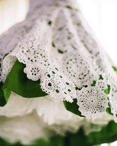 doily wedding dress |