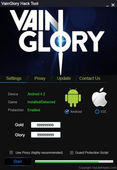 VainGlory hack tool cheats no survey or password for free download. Get unlimited gold, coins, gems & glory by using VainGlory hack for android & ios.