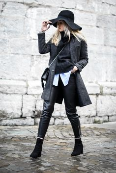 WINTER OUTFIT // Sac Saint Laurent // Pull col roulé American Vintage // Pantalon simili