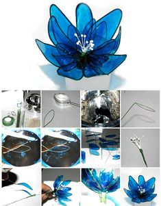 Gelatine flower step by step