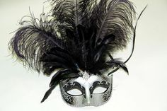 ON SALE Masquerade Ball Mask  Ostrich by MasquerademaskStudio, $24.95  http://www.mybigdaycompany.com/new-years-eve.html