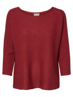 CASUAL BLUSE MED 3/4-ÆRMER, Tibetan Red, large