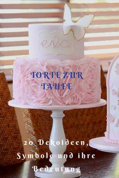 Zur Tauffeier darf eine wunderschöne Torte nicht fehlen. Eine Torte zur Taufe kann mit vielfältigen Motiven und Symbolen mit spezieller Bedeutung verziert werden.