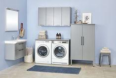 Vaskerom? Ha det på badet! - Byggmakker+ Washing Machine, Laundry, Kitchen Appliances, Laundry Room, Diy Kitchen Appliances, Home Appliances, Kitchen Gadgets, Laundry Rooms
