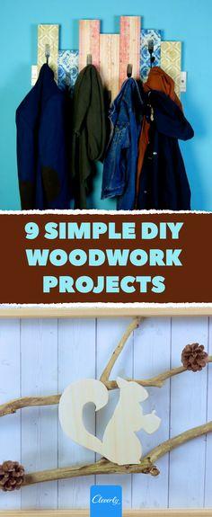 9 Simple DIY Woodwork Projects | #diy #crafts #diyprojects #homehacks #diycrafts #upcycling #tipsandtricks #lifehacks Woodworking Projects Diy, Diy Projects, Bois Diy, Palette, Home Hacks, Wardrobe Rack, Easy Diy, Simple Diy, Upcycle
