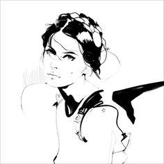 Black & white fashion illustration // Manuel Rebollo