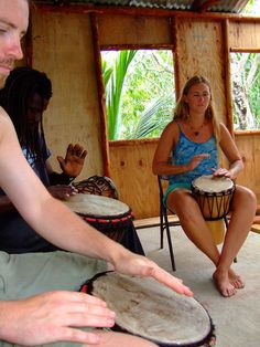 Maroon Creole Drum School (Belize). 'Head down to Emmeth Young's  Maroon Creole Drum School in  San Pedro Columbia and learn  traditional drum crafting and  playing with a geniune Creole master.' http://www.lonelyplanet.com/belize