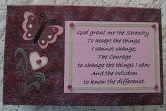 Custom Prayer Wooden Box Serenity Prayer by simpletreasures4you