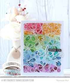 MFT Card Challenges: Inspiration Friday - Inspired by Rainbows