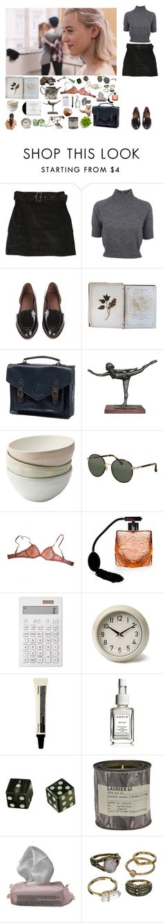 """""""she's just visiting"""" by lauryn16 ❤ liked on Polyvore featuring Carven, Rachel Comey, FOSSIL, The Row, Eres, Muji, Garden Trading, Rodin, Le Labo and The Body Shop"""