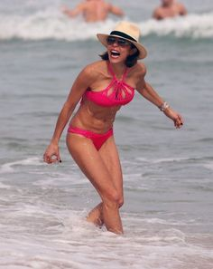 Bethenny Frankel swims at a beach in Miami.