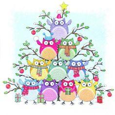 3023 Servilleta decorada Navidad