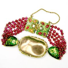 Ruby And Emerald Indian Bracelet