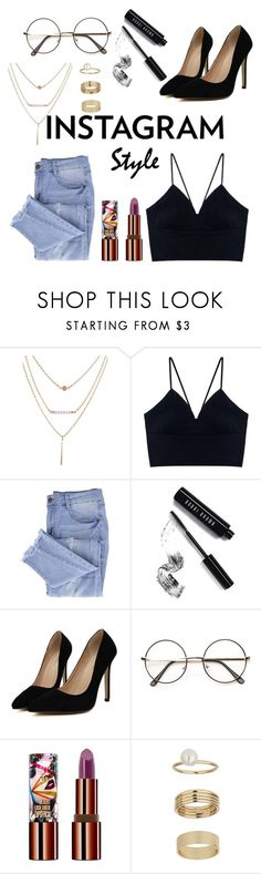 """""""Untitled #649"""" by dolrebeca ❤ liked on Polyvore featuring Essie, Bobbi Brown Cosmetics, Teeez, Miss Selfridge, 60secondstyle and PVShareYourStyle"""