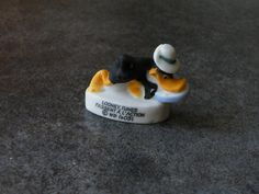 Fève de collection en céramique - Daffy duck : Cuisine créative par jl-bijoux-creation