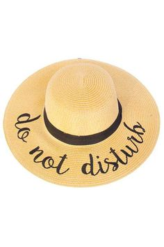 b631800f865 Be Chill in this Just Chillin Sun Hat! Embroidered Lettering Straw Brim Hat  with Ribbon Band.