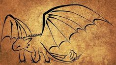 Dragon concept line art HTTYD Toothless | My Art | Pinterest
