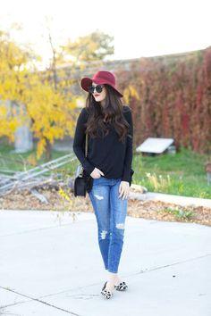 Burgundy Floppy Hat