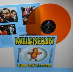 MILLENCOLIN life on a plate LP Record YELLOW / GOLD Vinyl with lyrics insert #punk