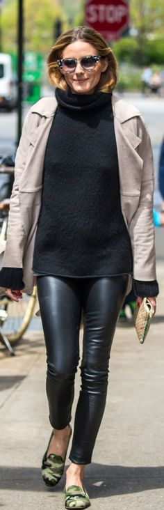 Olivia Palermo: Sunglasses – Fendi  Shoes – Pretty Ballerinas  Sweater – Iris von Arnim