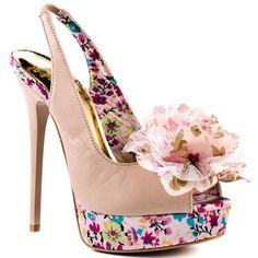 Heels I Love...  Promise Shoes    Flores - Blush