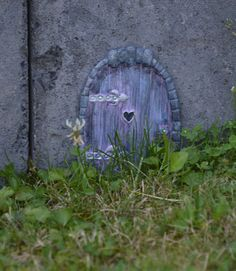 Amazing My very first self crafted fairydoor FairyDoorFun original art work by Claudia Schwamberger