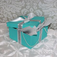 Tiffany & Co. Inspired Centerpiece Box  Tiffany by LovinglyMine, $16.00