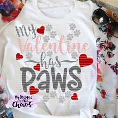 Valentine's Day SVG cutting file for Silhouette and Cricut animal lover valentine's day cut file cut Puppy Valentines, Little Valentine, Homemade Valentines, Valentines Day Shirts, Valentine Crafts For Kids, Valentine Decorations, Valentine Ideas, Printable Valentine, Valentine Box