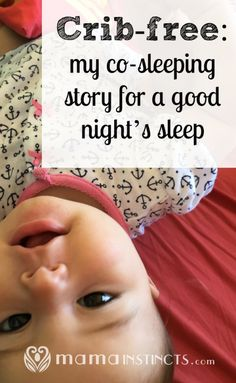 How we went from trying a crib to bed sharing and actually getting sleep. #cosleeping #bedsharing #baby