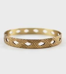 Diamond Cutout Bangle Bracelet