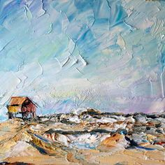 the accidental artist: Rough Seas, Nag's Head    First painting of the trip!