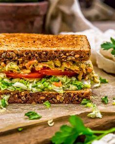 Sandwich Spread, Veggie Sandwich, Cashew Sauce, Sauteed Zucchini, Onion Sauce, Tomato Vegetable, Raw Cashews, Sliced Tomato, Minced Onion