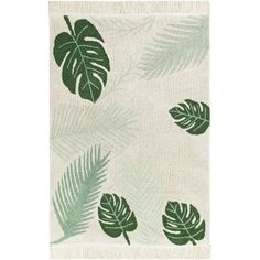 """Teppich """"Tropical green"""", 140 x 200 cm, Baumwolle, waschbar, Lorena Canals Tropical Rugs, Style Tropical, Motif Tropical, Lorena Canals Teppich, Lorena Canals Rugs, Childrens Rugs, Siding Colors, Tapis Design, Rug Size Guide"""