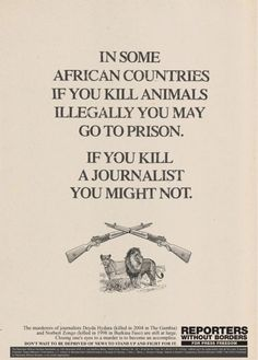 Reporters Without Borders In Some African Countries..